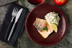 Healthy Recipes: Grilled trout with Apple and fennel Remoulade