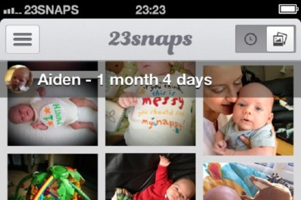 23snaps is like a private social network for families