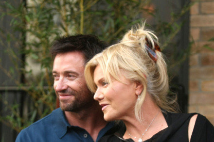 Hugh Jackman with wife Deborah-Lee Furness