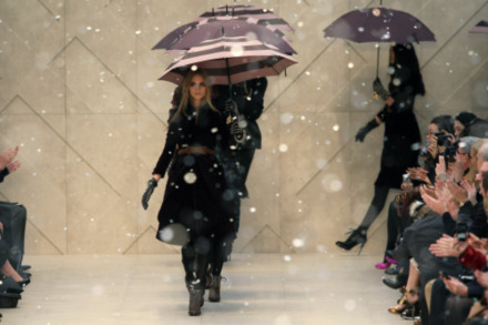 Burberry A/W 12 finale - we can only wish to look like this in the rain