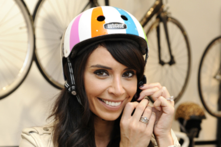 Christine is encouraging us all to wear a helmet whilst riding