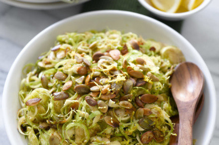 Crunchy Sprout Salad With Pumpkin Seeds And Balsamic Vinegar
