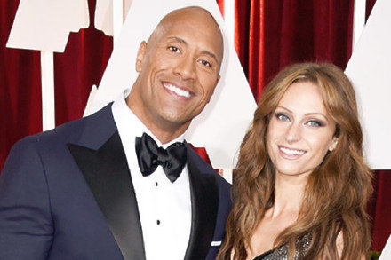 Dwayne Johnson with girlfriend Lauren Hashian