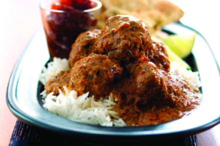 Karai Bhuna Meatballs with Lime and Chilli Chutney