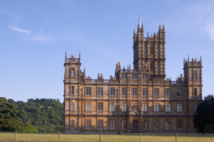 Highclere Castle is featured in hit TV drama Downton Abbey