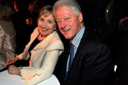 Hillary and her husband Bill Clinton