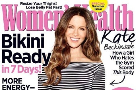 Kate Beckinsale covers Women's Health