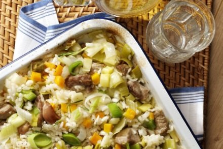 One-Pot Oven Baked Lamb And Leek Risotto