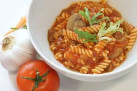 Tomato pasta salad - a lunch option