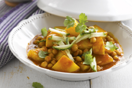 Healthy Potato and Chick Pea Curry Recipe