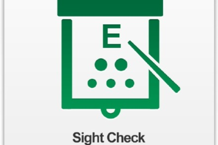 The Specsavers Sight Check app – users tap to take the eye test