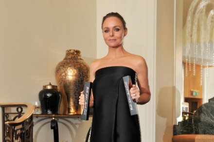 Stella McCartney with her two awards