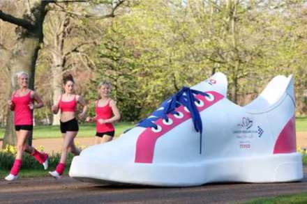 The record breaking trainer is a UK size 454!