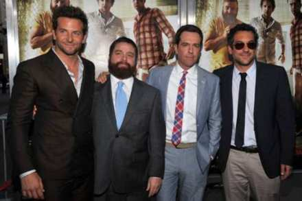 Bradley Cooper, Zach Galifianakis, Ed Helms & Todd Philips