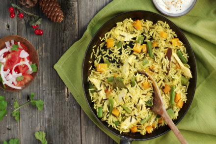 Roast Chicken or Turkey and Vegetable Pulao