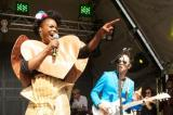 The Noisettes appearing on the BT Vision Stage