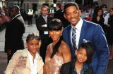 Jada Pinkett Smith with her family