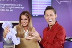 Joey Essex and Sam Faiers t the launch of Doddle, a brand new collection and returns retailer that is opening a network of shops in and around train s