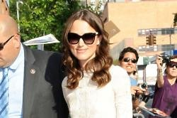 Keira Knightley arrives at 'The Daily Show with Jon Stewart'