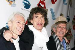 Charlie with Mick and Keith