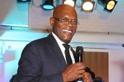Samuel L. Jackson at One For The Boys' karaoke party