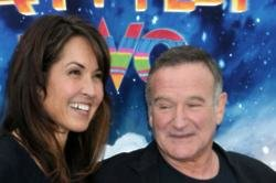 Susan Schneider Williams and Robin Williams