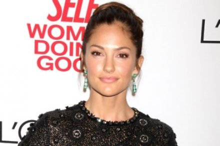 Minka Kelly cheers on baseball star boyfriend