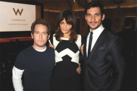 David Gandy, Helena Christensen and Tom Hollander at Away We Stay premiere