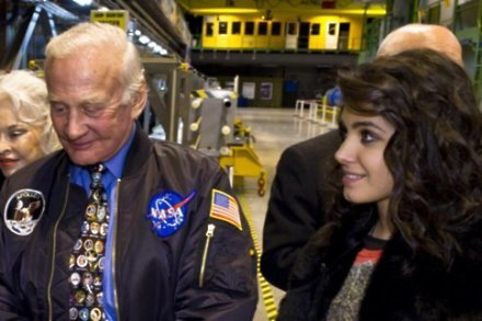 Katie Melua with Buzz Aldrin
