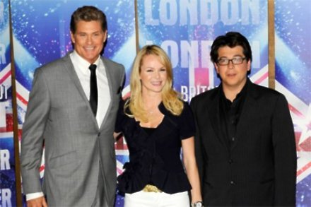 Michael McIntyre with Amanda Holden and David Hasselhoff