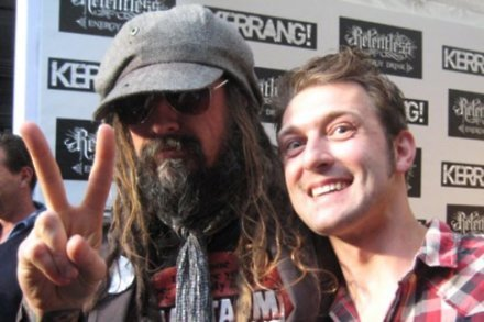 Rob Zombie with Bang Music Editor Andy Tillett
