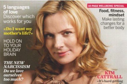 Kim Cattrall on the cover of Psychologies magazine
