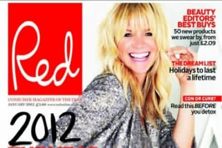 Zoe Ball in Red magazine