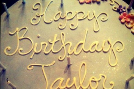 Taylor Swift's 22nd birthday cake