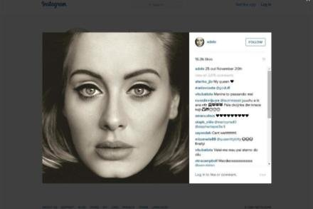 Adele's Instagram post