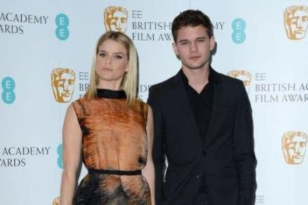 Alice Eve and Jeremy Irvine at the BAFTA nominations