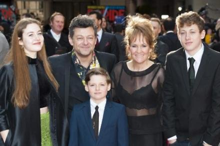 Andy Serkis and his family