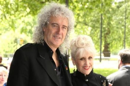 Anita Dobson with husband Brian May