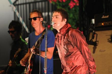 Andy Bell with Liam Gallagher