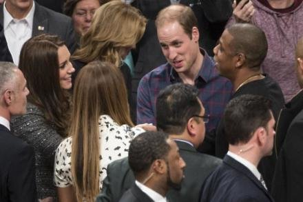 Beyonce and Jay Z meet Prince William and Duchess of Cambridge