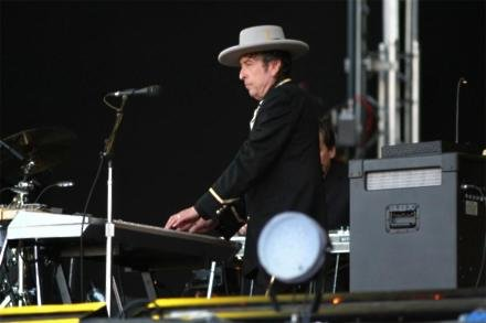 Bob Dylan performing in 2008