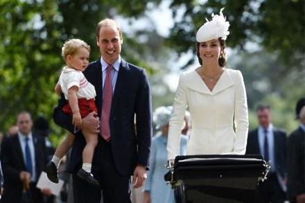 Duke and Duchess of Cambridge  and Prince George