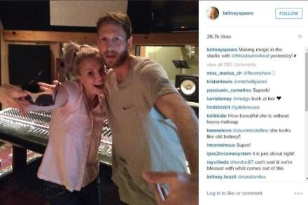 Britney in the studio with BURNS