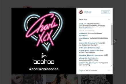 Charli XCX announces collaboration with boohoo