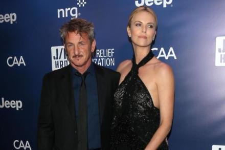 Charlize Theron with Sean Penn