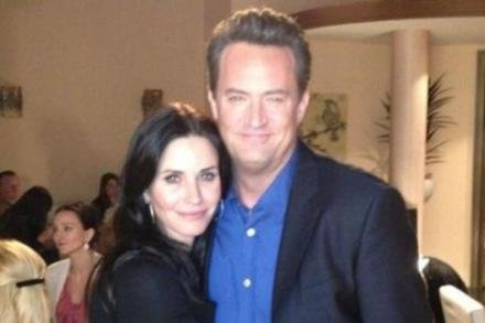 Courteney's Twitter pic with Matthew Perry