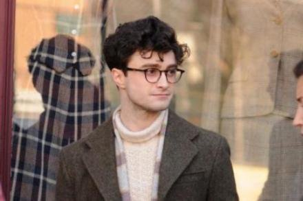 Daniel Radcliffe on the set of Kill Your Darlings