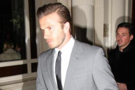 David Beckham wearing an on-trend grey suit