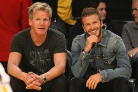 David Beckham and Gordon Ramsay