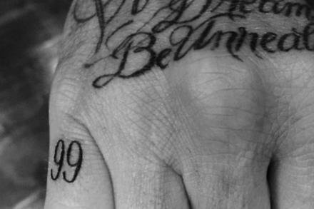 David Beckham's new tattoo (c) Instagram